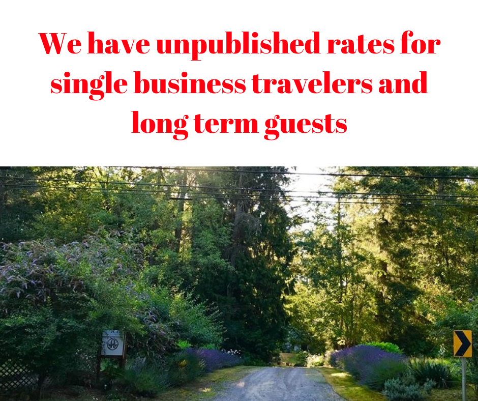 We have unpublished rates for single and long term travelers that go into effect anually after October (1)